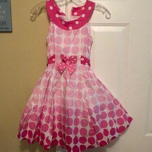 Bonnie Jean pink polka dot dress